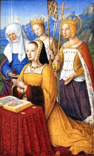 Quand  tu supplies tes parents de ne pas aller en cours (Ines et Sibylle) Titre : Horae ad usum Romanum, dites Grandes Heures d... Date d'édition : 1505-1510