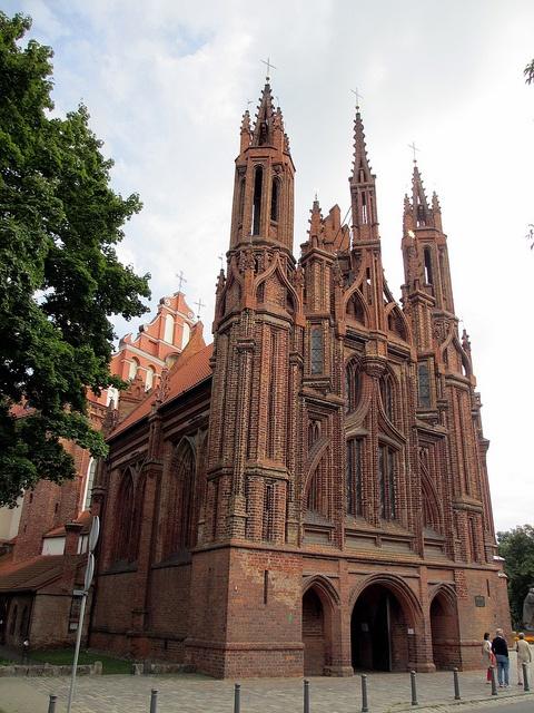 St. Anne church, Vilnius, Lithuania by Paul McClure DC, via Flickr