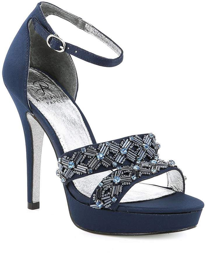 17d1d91d0c4 Adrianna Papell Marietta Metallic Jeweled Platform Dress Sandals. From Adrianna  Papell