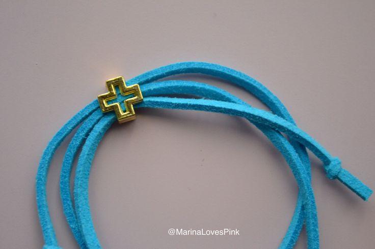 A personal favourite from my Etsy shop https://www.etsy.com/listing/277775298/aqua-blue-suede-cord-bracelet-evil-eye
