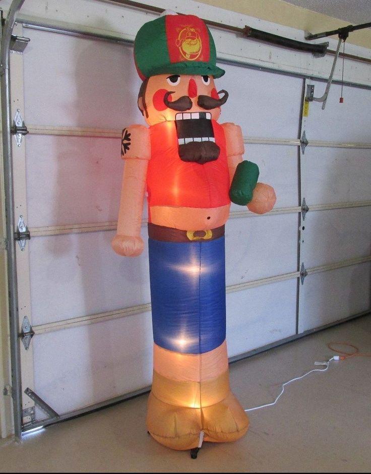 7 5 39 gemmy airblown inflatable redneck nutcracker for Airblown nutcracker holiday lawn decoration