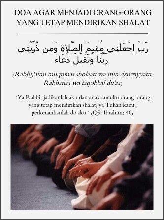 Doa agar tetap mendirikan shalat