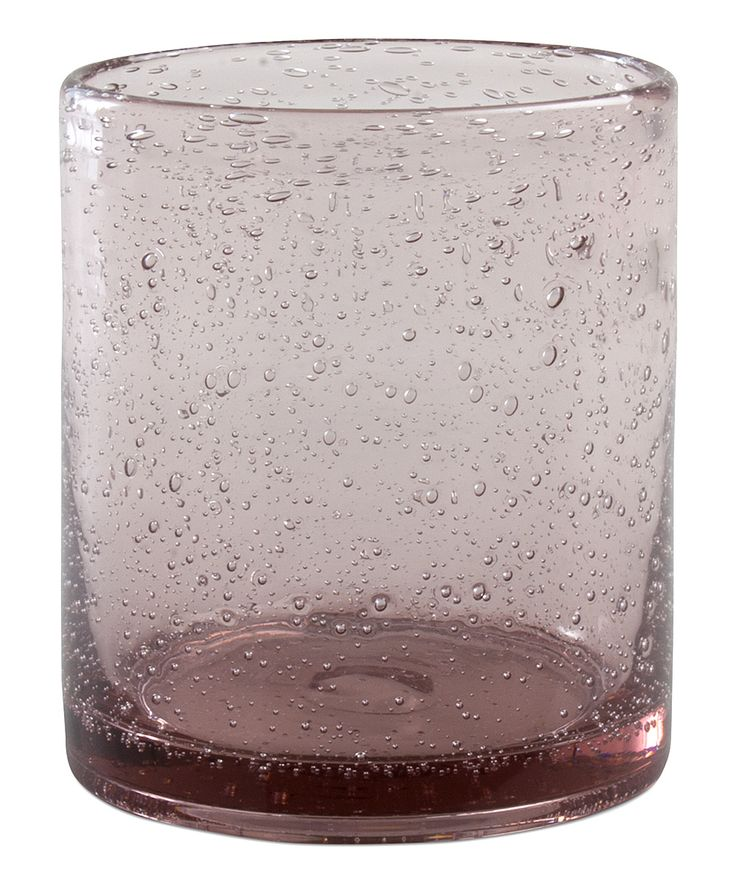 Lavender Bubble Glass Old Fashioned Tumbler - Set of Six