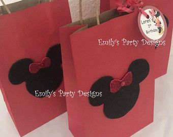 Mickey mouse Minnie mouse red goody bags red di SuchisStudio