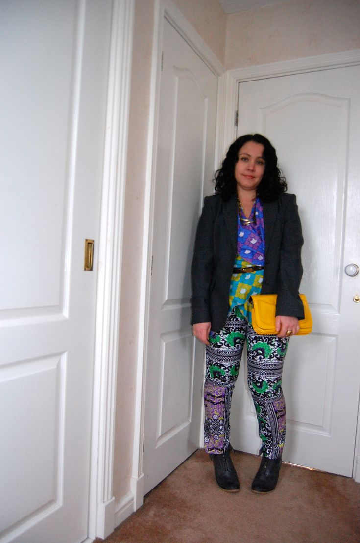 Jacket and bag - second hand, trousers ASOS Africa, top - YouMeWe #ethicalfashion