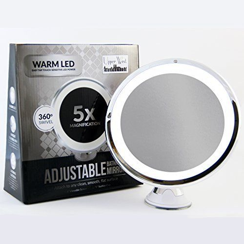 LED Makeup Mirror   Adjustable 7x Magnification Lighted Makeup Mirror Vanity   Warm LED Tap Light. 1000  ideas about Led Makeup Mirror on Pinterest   Lighted mirror