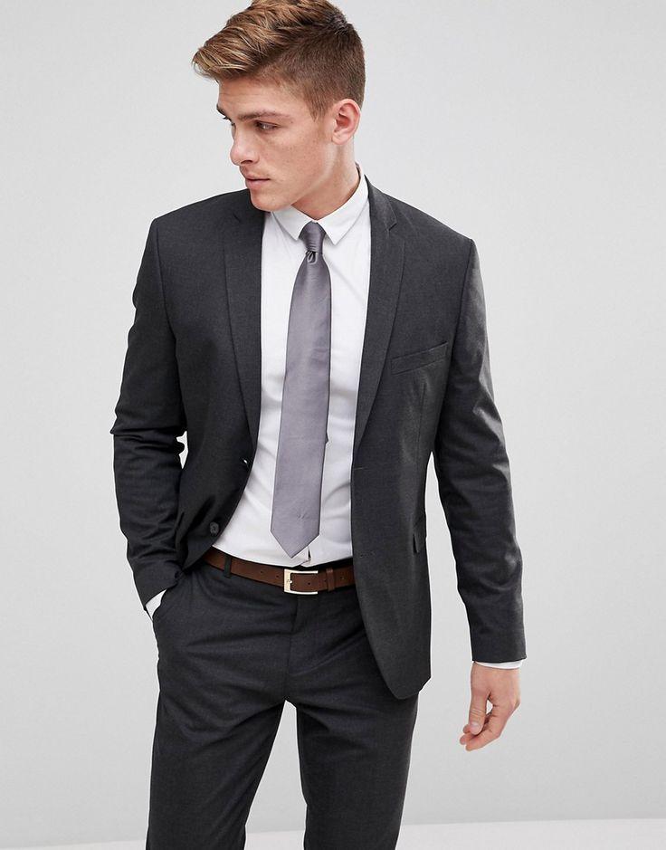 Jack & Jones Premium Slim Fit Suit Jacket In Dark Gray - Gray