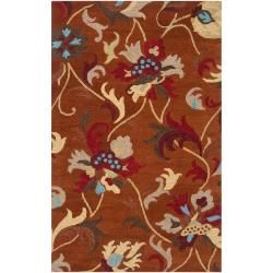 overstockcom hand tufted orange centennial wool rug 8 x