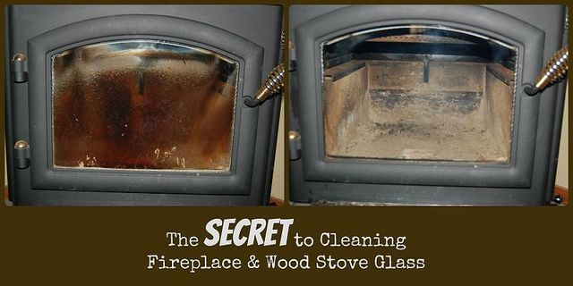 The secret to cleaning glass on wood stoves and fireplaces - EASY