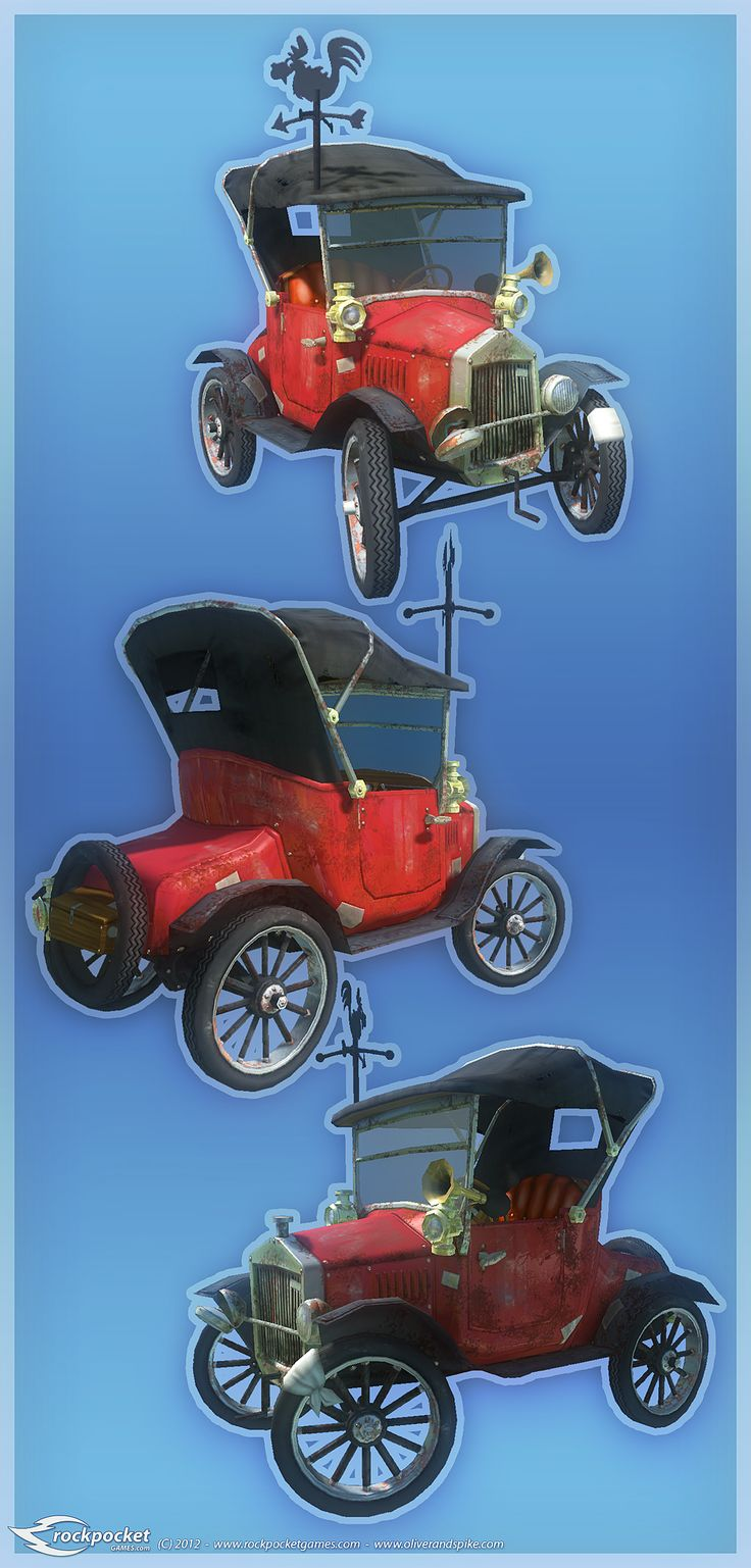 The McSplice Family Car, this time in 3D (actual in game model)