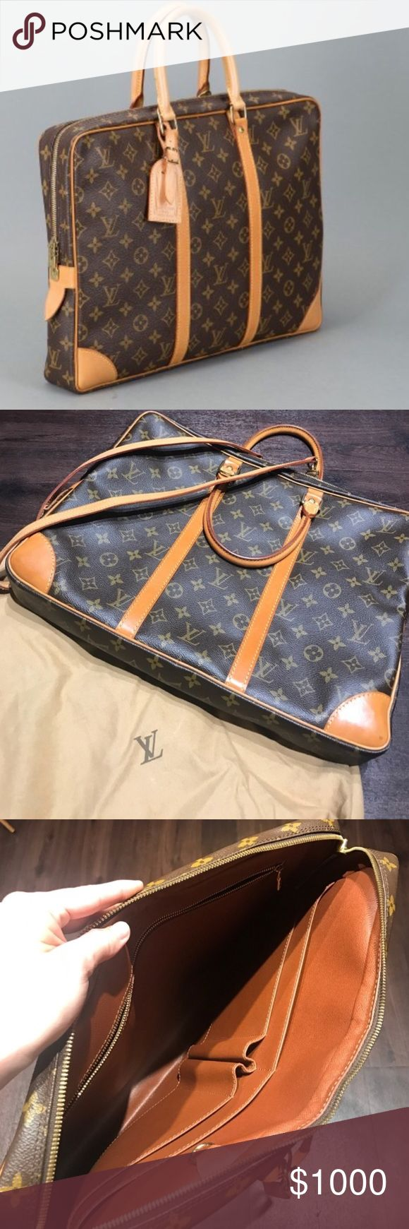 Louis Vuitton Briefcase 💼 Real, comes with dust bag and shoulder straps Louis Vuitton Bags Briefcases