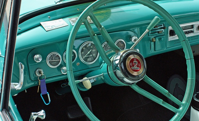 A Checker Car Interior Photographed During The National Convention Of CCC Club