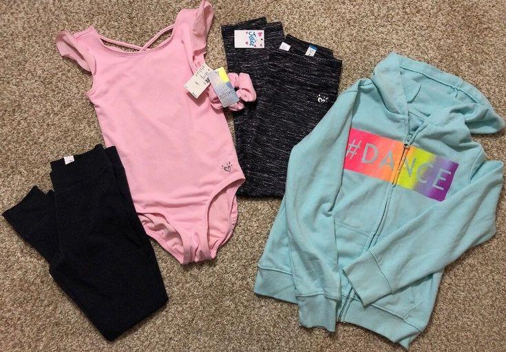 NWT Girls Justice Pink Leotard Dance Gymnastics Black Leggings Hoodie Jacket 7  | eBay #dancewear #dance #dancemoms #leotard #leotards #girlsfashion #leggings #justice