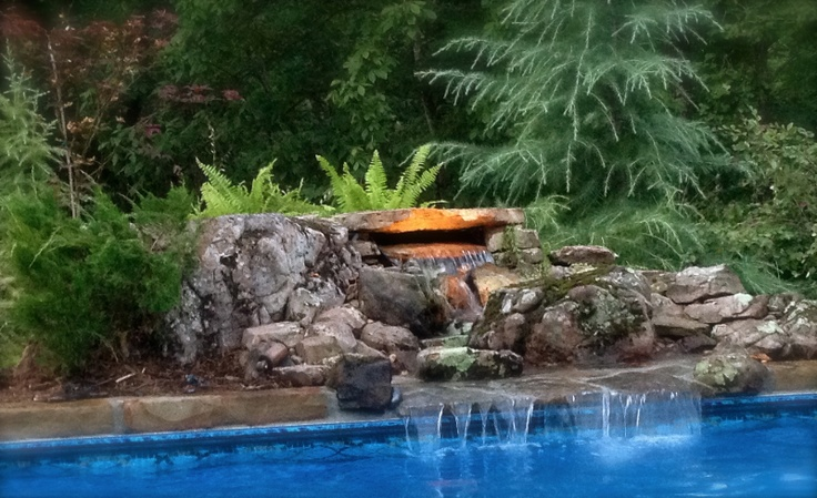 Swimming Pool Waterfall, Landscaping Conway Sprinkler ...