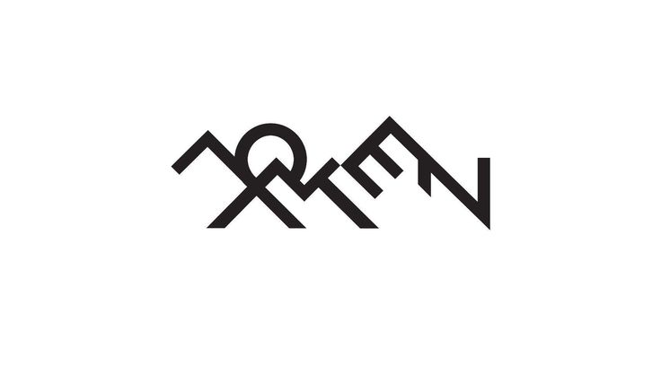 Logo design by Bull-Stark  LOFOTEN, the famous archipelago in Norway, is probably the country`s strongest brand in it self.  Now the typography follows the shaoes of the Mountains and the midnight sun.