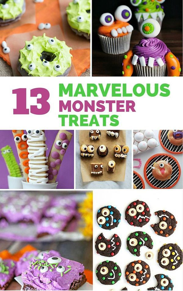 13 marvelous monster treats make these creative monster for Creative ideas for halloween treats