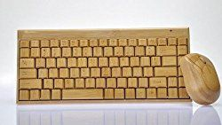 …ist garantiert diese handgemachte Bambus Tastatur. Enthalten um Paket ist eine Funkmaus und eine Tastatur aus Bambus, durch die unterschiedliche Maserung ist jedes Teil ein Unikat. Bambus wä…