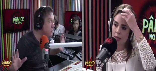 """Rachel Sheherazade foi convidada a participar do programa """"Pânico no Rádio"""", da Jovem Pan, e bateu de frente com o apresentador Emílio Surita."""