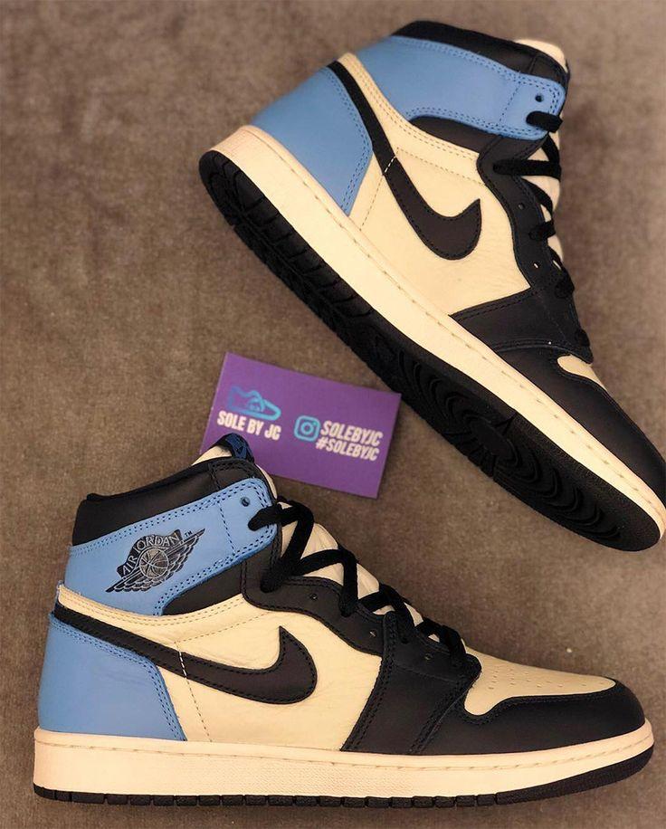 innovative design db2ef f3214 Air Jordan 1 UNC Leather Releases On August 17th   Air Jordan in 2019    Sneakers, Air jordans, Sneakers nike