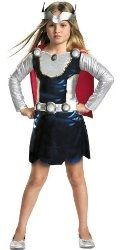 Girls can be thunder gods too! This Thor costume for girls is a great pick. Bring the rain! – Marvel Universe Thor Girl Costume
