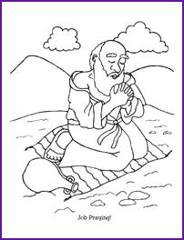job coloring pages bible - photo#3