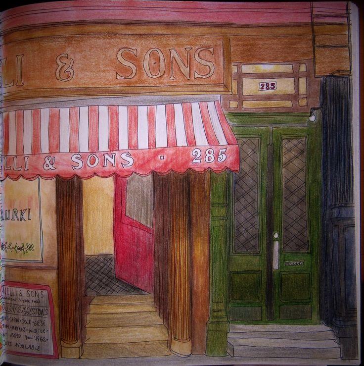 Zoe De Las Cases Secret New York Colouring Book Ottomanelli Sons Michelle