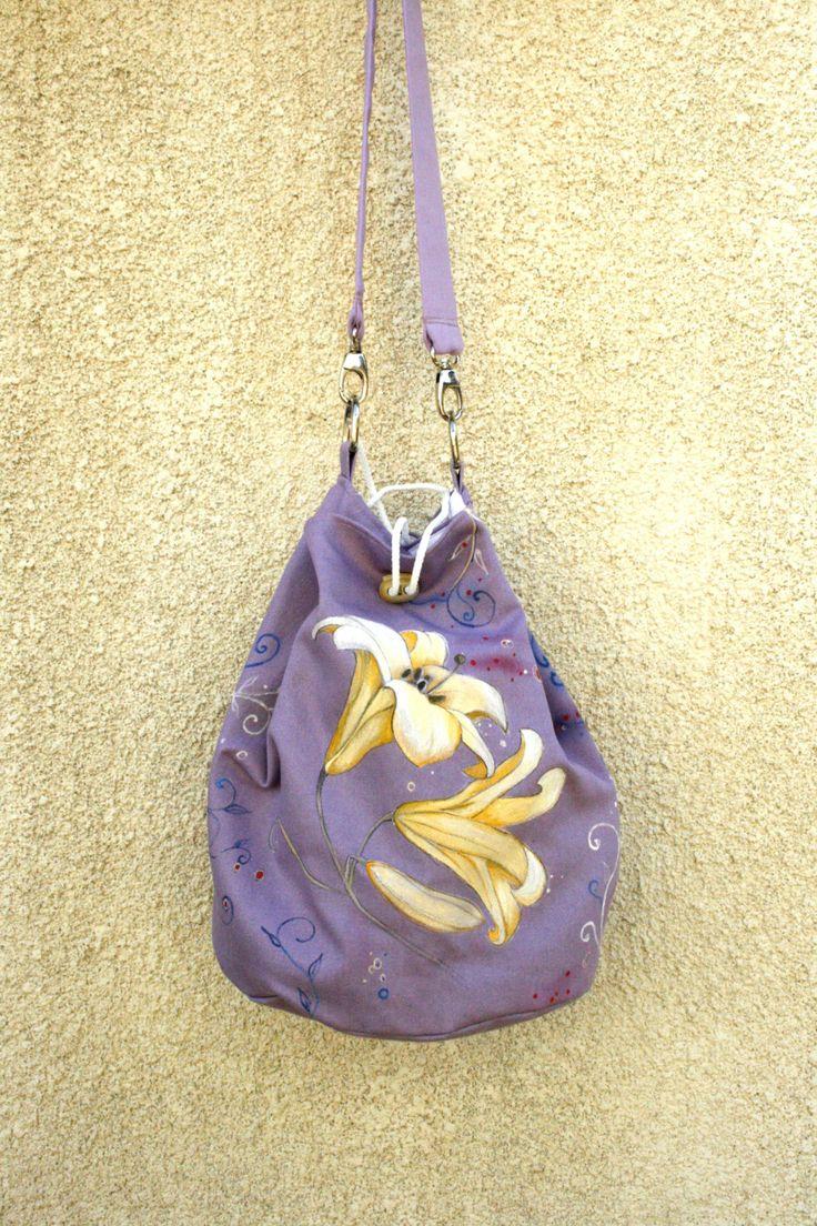 Violet yellow Lily Bag by AtelierGOBI on Etsy