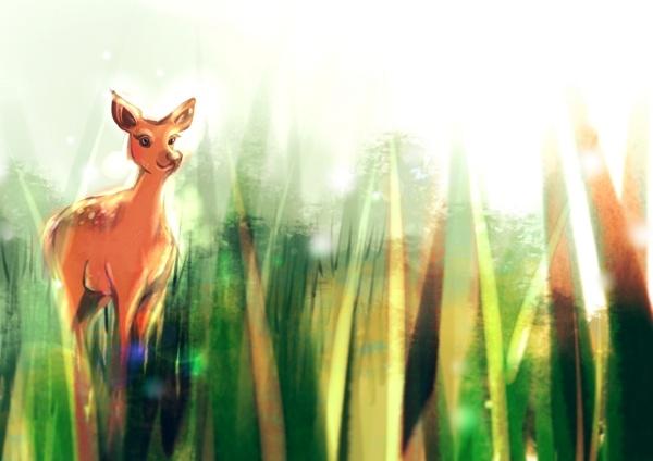 deer friend by Ana Varela, via Behance