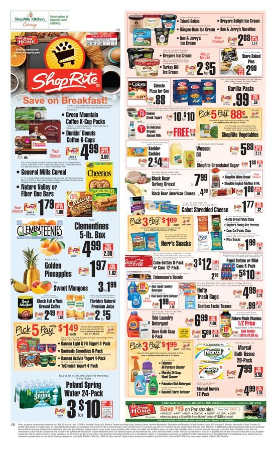 Explore latest Shoprite Weekly Circular Flyer February 25 – March 3, 2018.Customers can search Shoprite ads or Shoprite circular here to keep track of the discounts, promotions, coupons and deals offered by the store. Shoprite offer everyday groceries and household products, budget-beating...