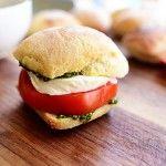 Pesto, Tomato, and Mozzarella Sandwich. Pioneer Woman. Mmm
