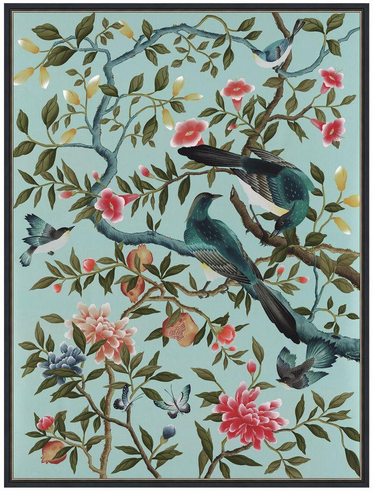 Felicity Giclée Print, Blue — Diane Hill Chinoiserie art