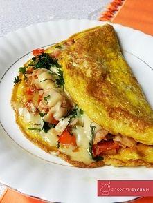 Zobacz zdjęcie Wypasiony omlet! :) Czyli pomysł na pyszne i baaaaardzo sycące śniadanko!