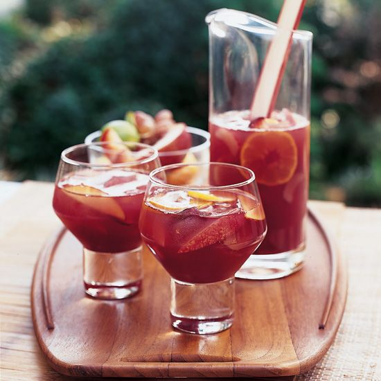 sangria, use a Shiraz and assorted sliced fresh fruit, such as apples ...