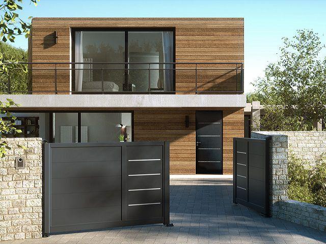 La collection Akor de Horizal s'impose dans le monde du portail aluminium.  En choisissant un portail de la gamme Akor vous pourrez, immédiatement ou ultérieurement, décliner le design de votre ... #maisonAPart