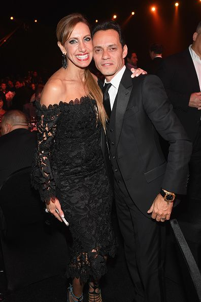 TV personality Lili Estefan and honoree Marc Anthony attend the 2016 Person of the Year honoring Marc Anthony at MGM Grand Garden Arena on November...