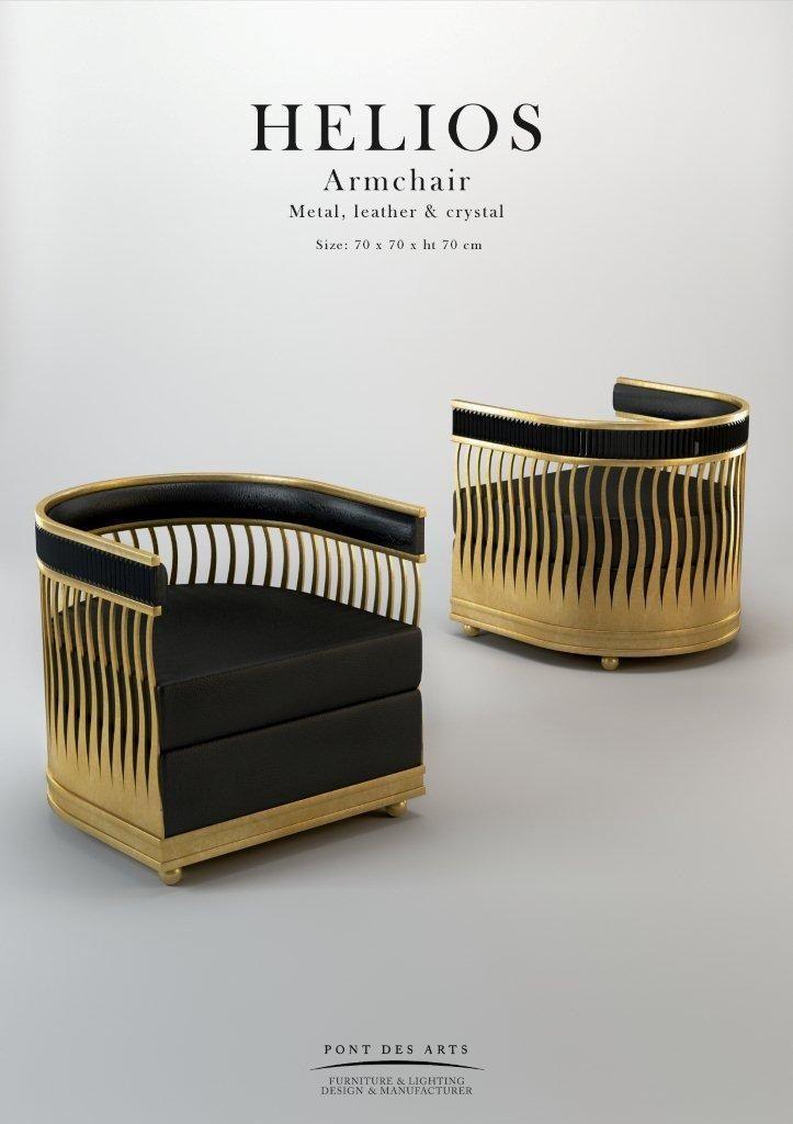 Hélios Armchair - Brasse laser cut - Pont des Arts - Designer Monzer Hammoud -