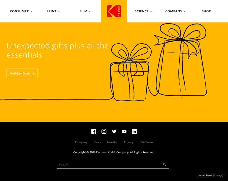 Kodak website in 2016