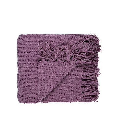 Home Collection Mauve chunky chenille throw- | Debenhams