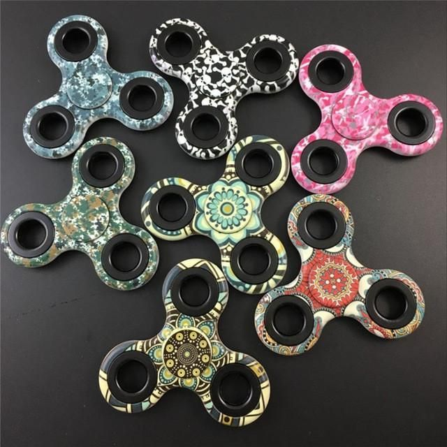 Free DHL 50pcs/lot camo mix style pink Fidget spinner Tri-Spinner Toys Sensory Autism Hand Spinner Anti Stress