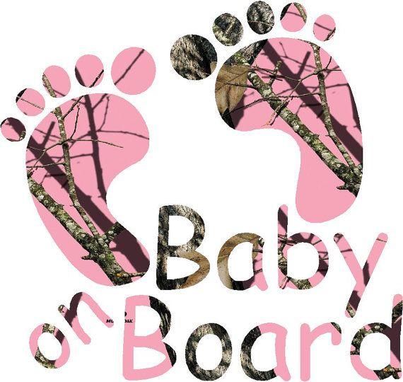 5.75 Pink Orange or Regular Camo baby on board by Backwoodhobbies