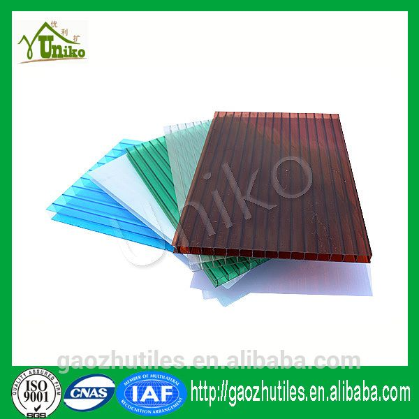 best recycled plastic building materials twin wall polycarbonate sheet