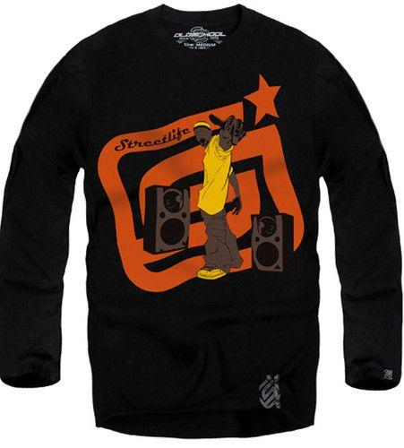 $19.00 New Authentic Oldschool Men's Long Sleeve Tshirt Sz M L XL Black | eBay