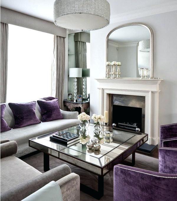 Purple Furniture Living Room Gray And Purple Living Room Dark