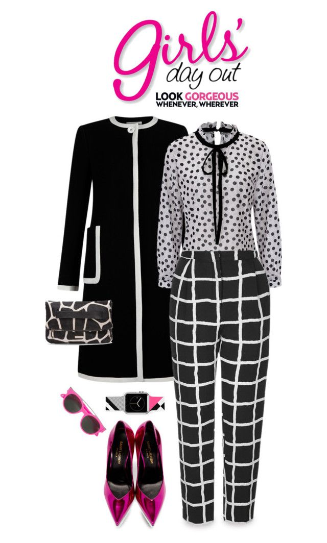 """""""MIXED PRINTS STYLE !!!"""" by shortyluv718 ❤ liked on Polyvore featuring Hobbs, Topshop, Yves Saint Laurent, Donald J Pliner, Casetify and Givenchy"""