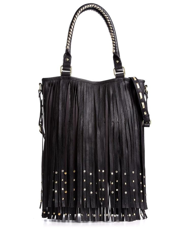 Steve Madden Handbag, Bfringes Studded Hobo, In Black ...
