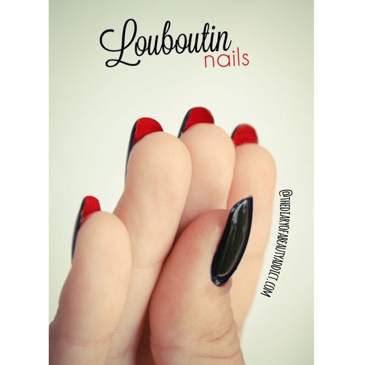 I'm loving the trend for Louboutin Manicures at the moment! I first saw them a few months ago and they have stuck in my mind ever since! As soon as black nails are acceptable again (I'd say October onwards) I'm having my usual CalGel Manicure upgraded! #TheBeautyAddict