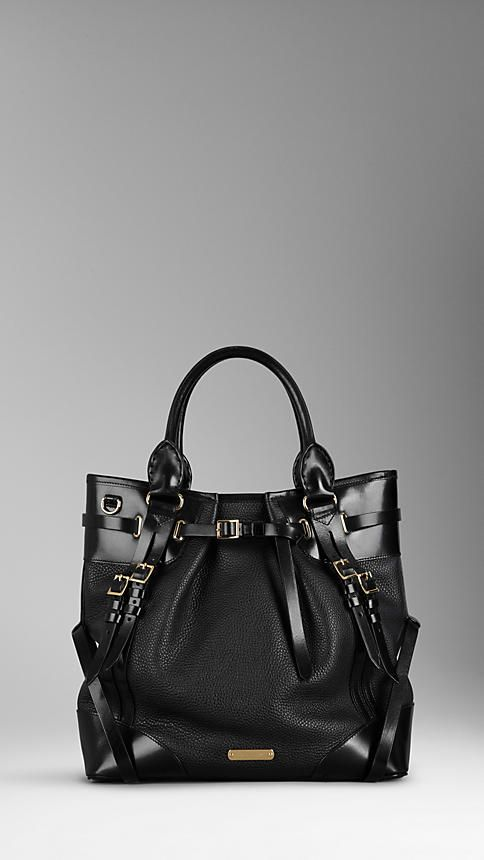 Burberry - LARGE LEATHER WHIPSTITCH TOTE BAG