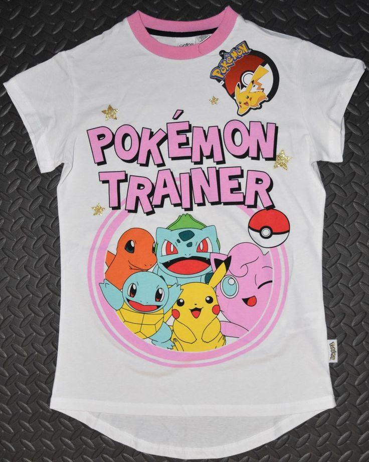 PRIMARK Pokemon Trainer T Shirt PJ Pikachu Bulbasaur Womens PYJAMAS UK Size 4-20