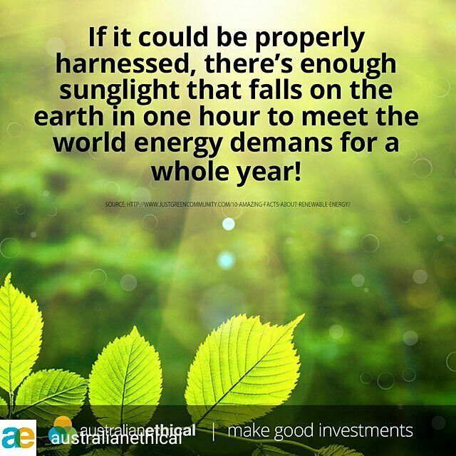 @Regranned from @australianethical -  There is no need for fossil fuels!  Invest your super ethically with us & help support #renewables. Sign up in 3 minutes (follow link in bio). #sustainability #ethical #eco #environment #climate #solar #windpower #nocoal #climatechange #nature #green #renewableenergy #electricity #future #ecofriendly # #ethics #ethicalmoney #eco #australianethical #goodinvestment #sustainableinvestment #recycling #lovenature #ethicalliving #reuse #plasticfree #fairtrade
