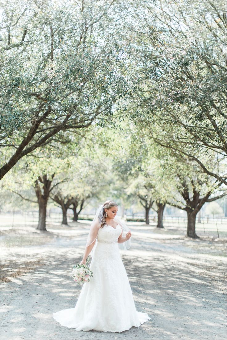 A beautiful Mori Lee sweetheart a-line lace wedding gown was the perfect romantic dress for this rustic spring wedding!